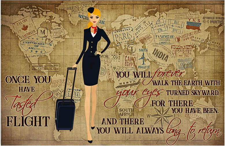 Once you have tasted flight you will forever walk the earth with your eyes poster