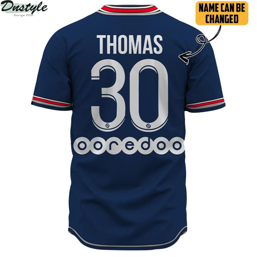 PSG home kit 3d Custom Name baseball Jersey Shirt 1