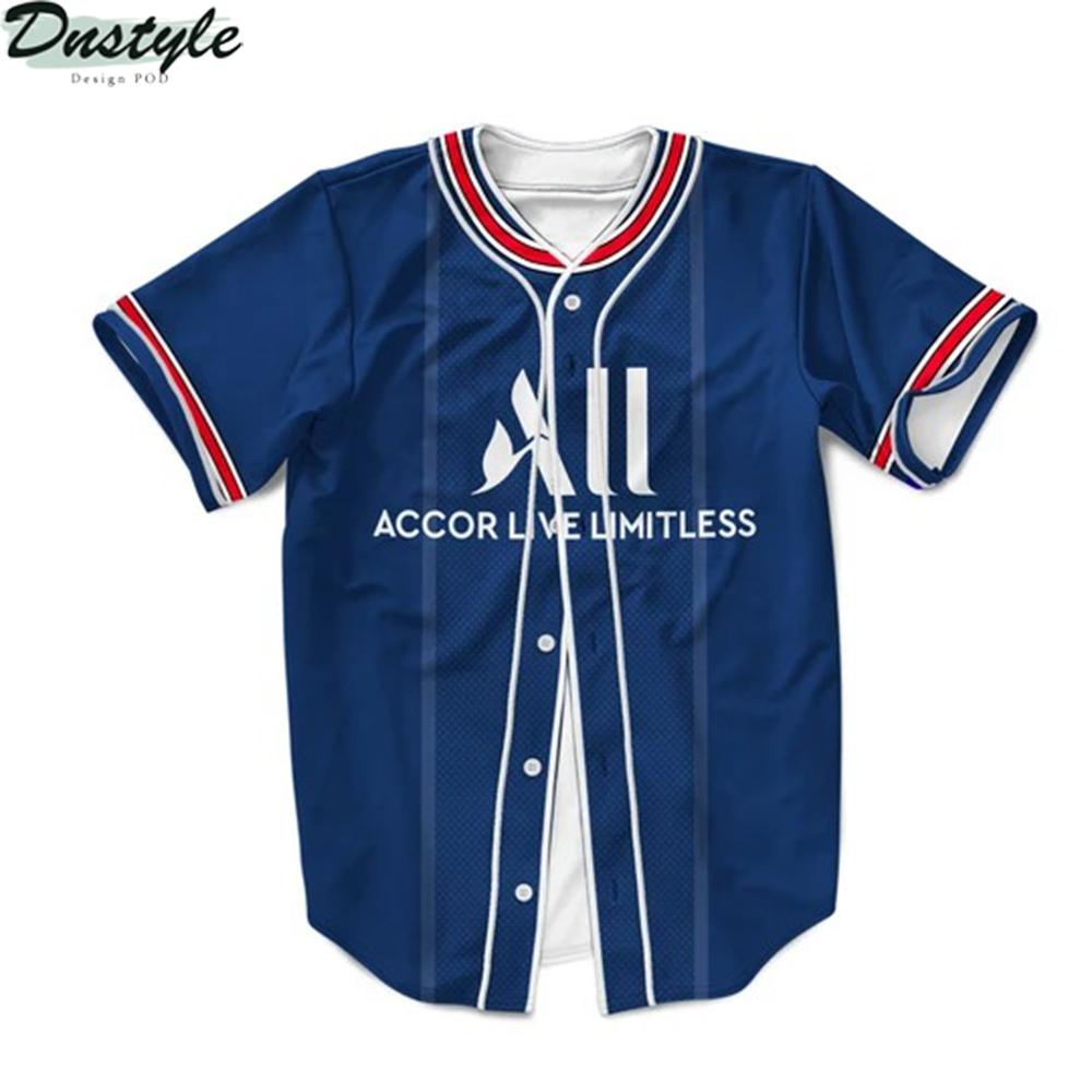 PSG home kit 3d Custom Name baseball Jersey Shirt 2