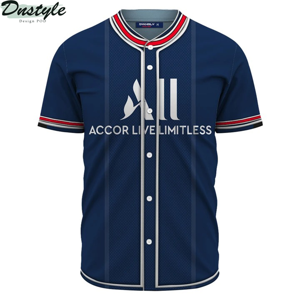 PSG home kit 3d Custom Name baseball Jersey Shirt