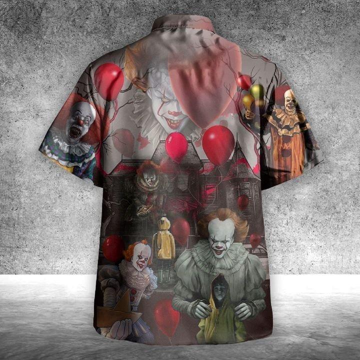 Pennywise you'll float too unisex hawaiian shirt 1