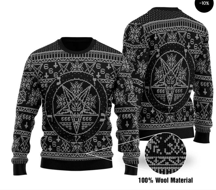 Pentagram ugly sweater