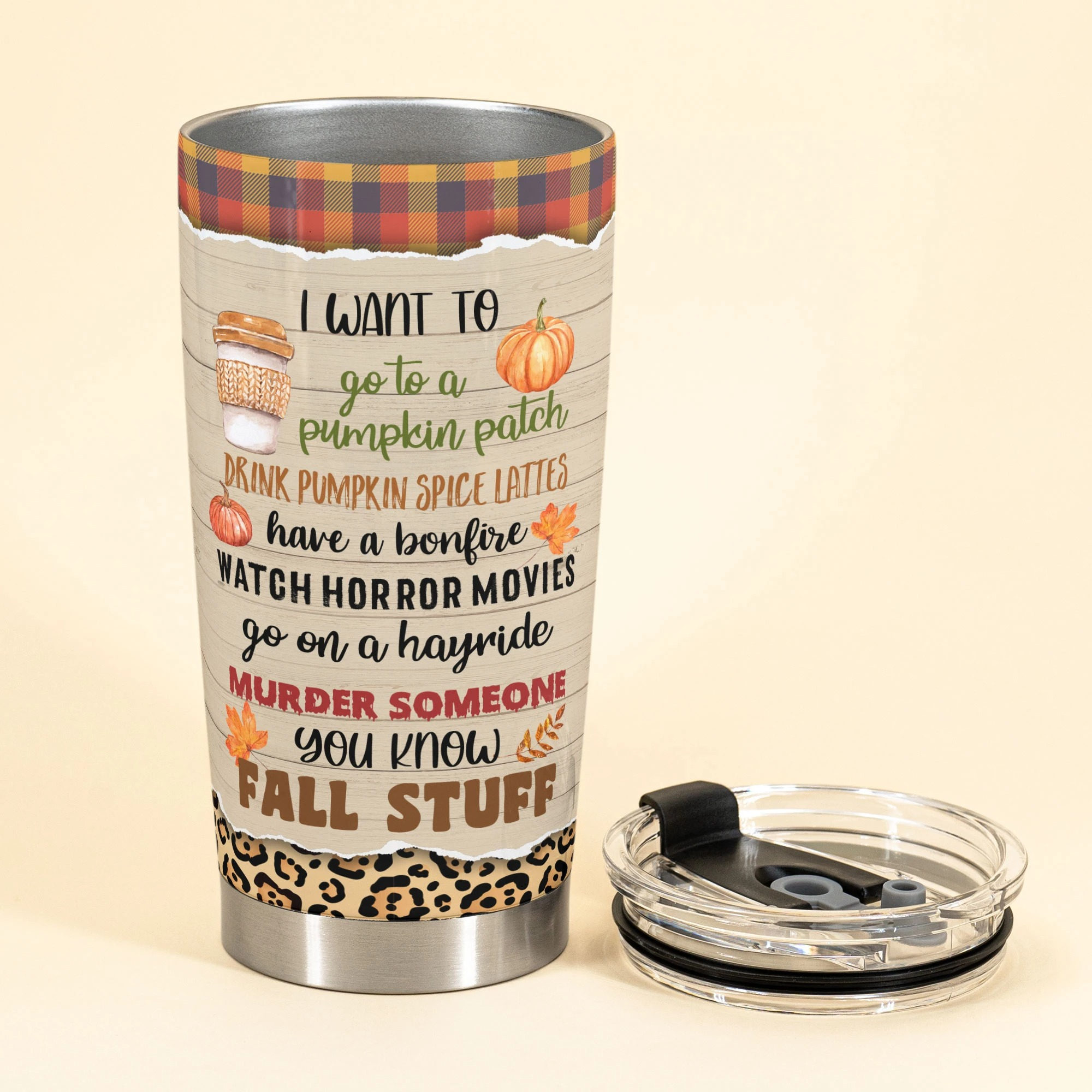 Personalized Bike Girl Just A Girl Who Loves Fall Tumbler 2