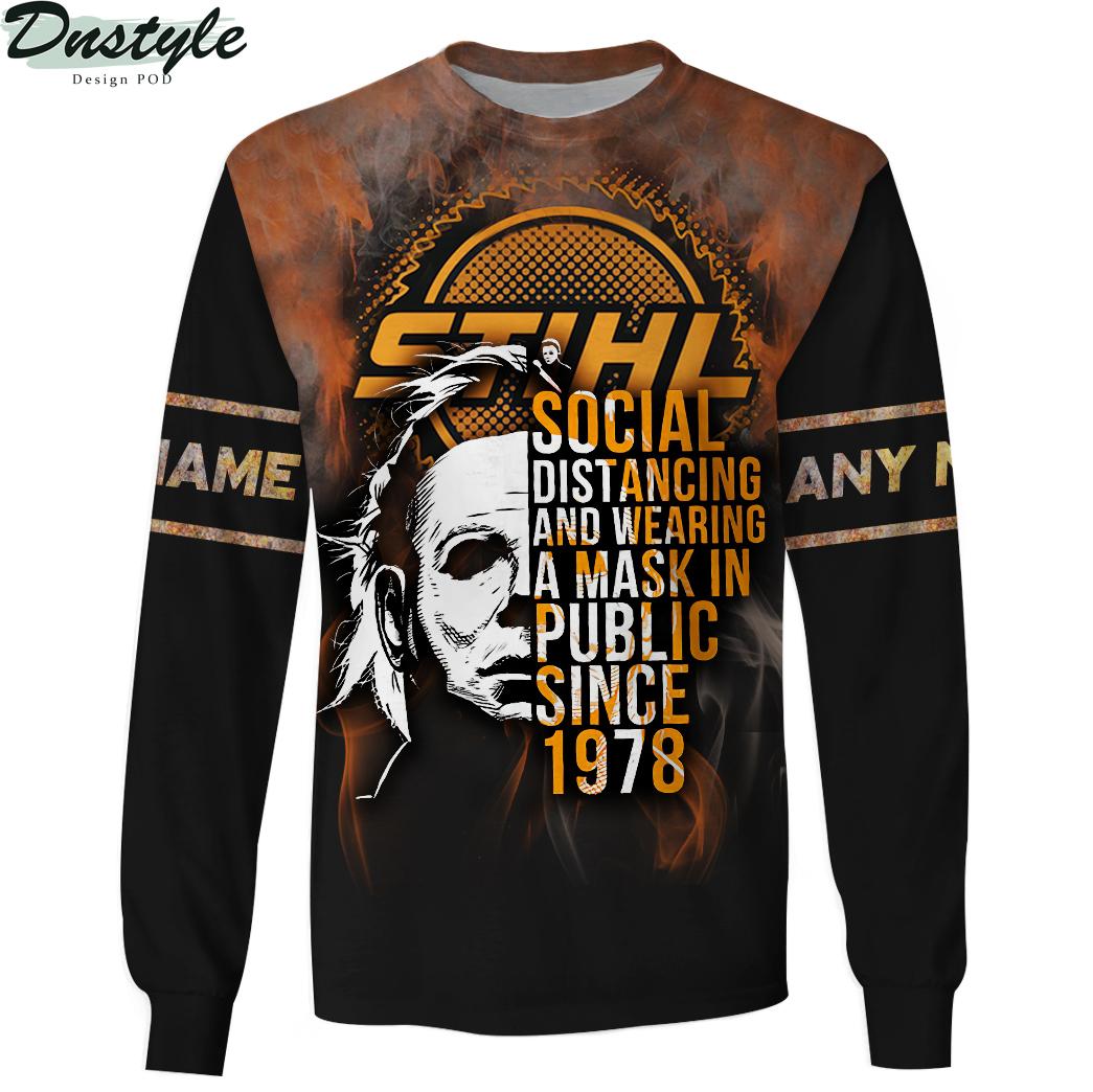 Personalized custom name Michael Myers STIHL social distancing 3d sweatshirt