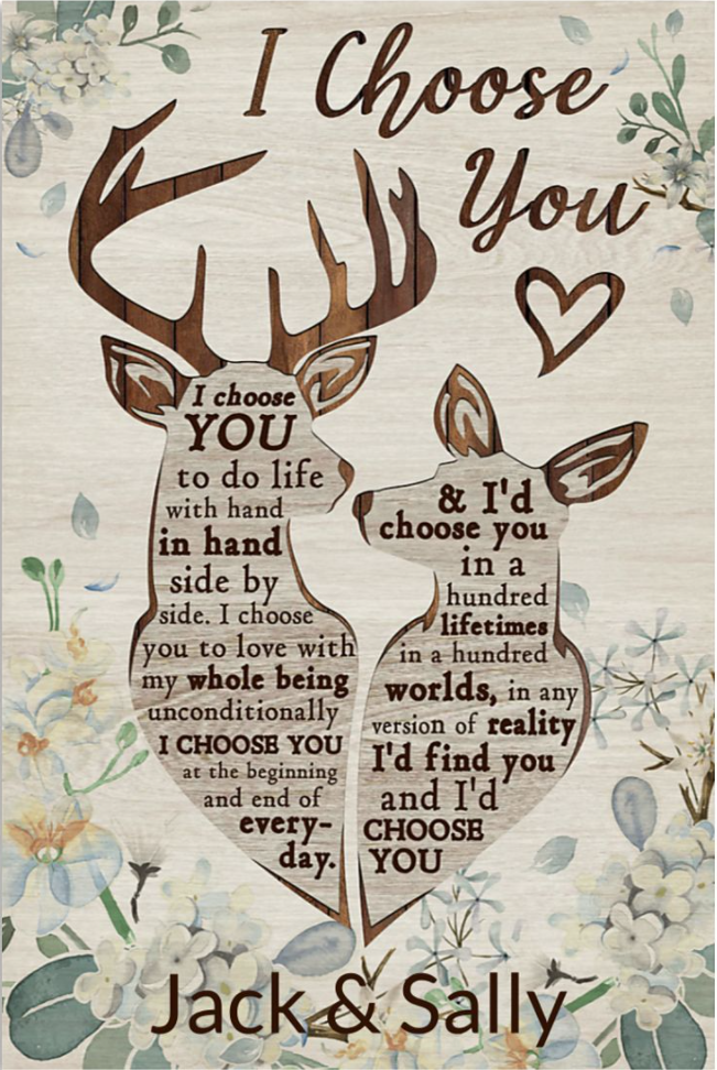 Personalized deer couple i choose you poster