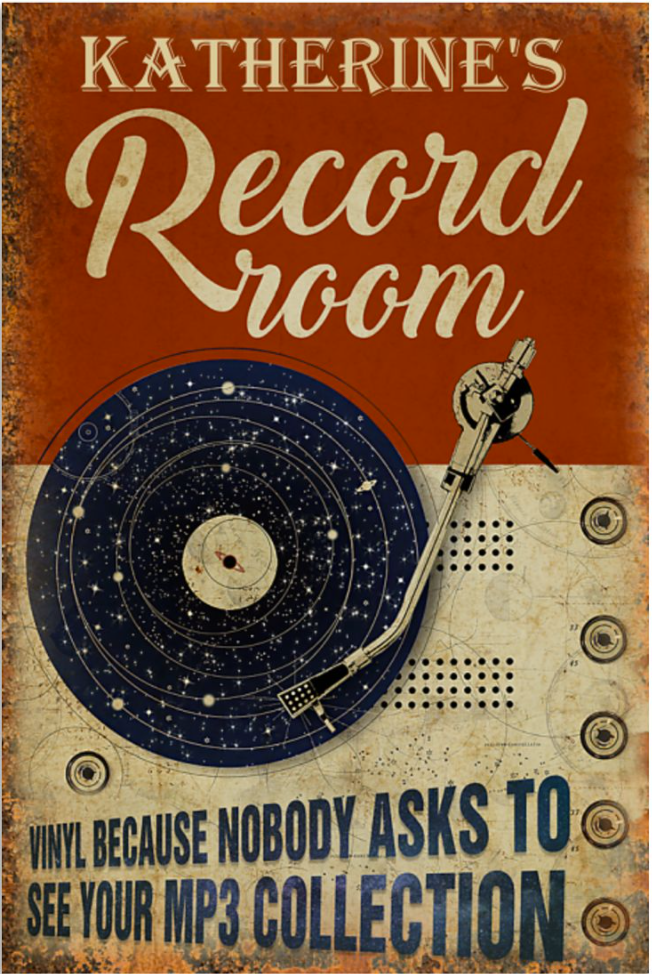 Personalized record room vinyl because nobody asks to see your mp3 collection poster