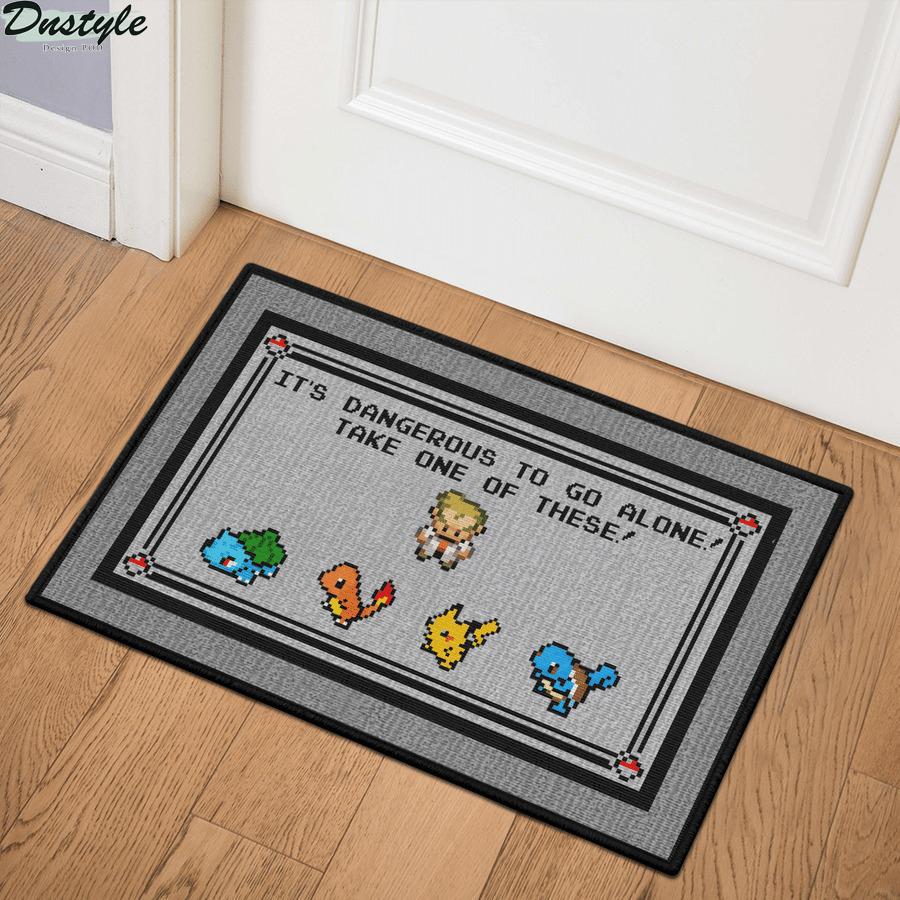Pokemon x Zelda it's dangerous to go alone doormat 1