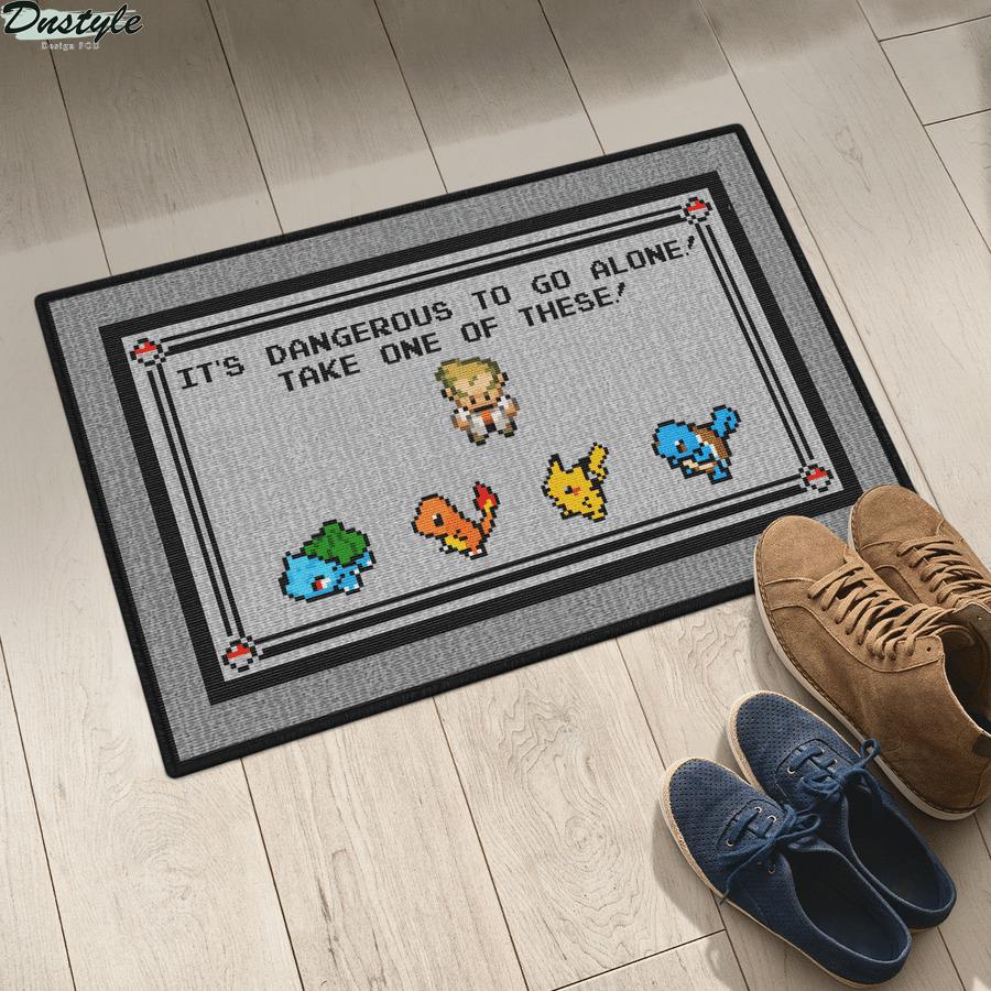 Pokemon x Zelda it's dangerous to go alone doormat 2
