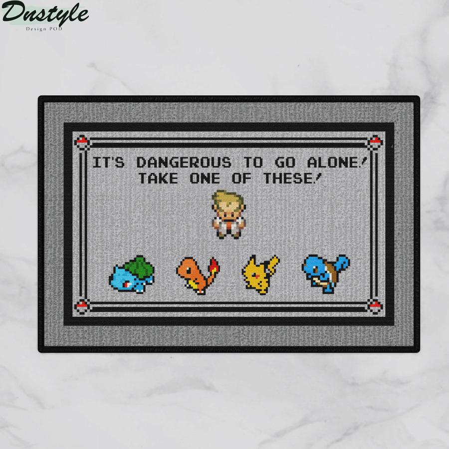 Pokemon x Zelda it's dangerous to go alone doormat