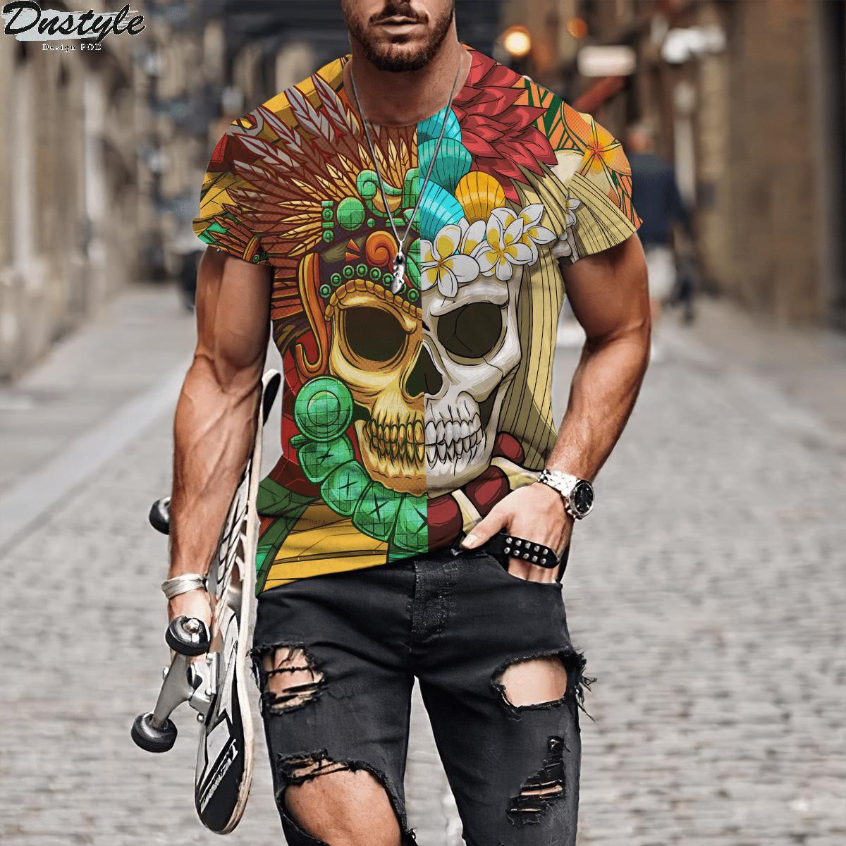 Premium Native American Skull Pattern 3d printed hoodie 1