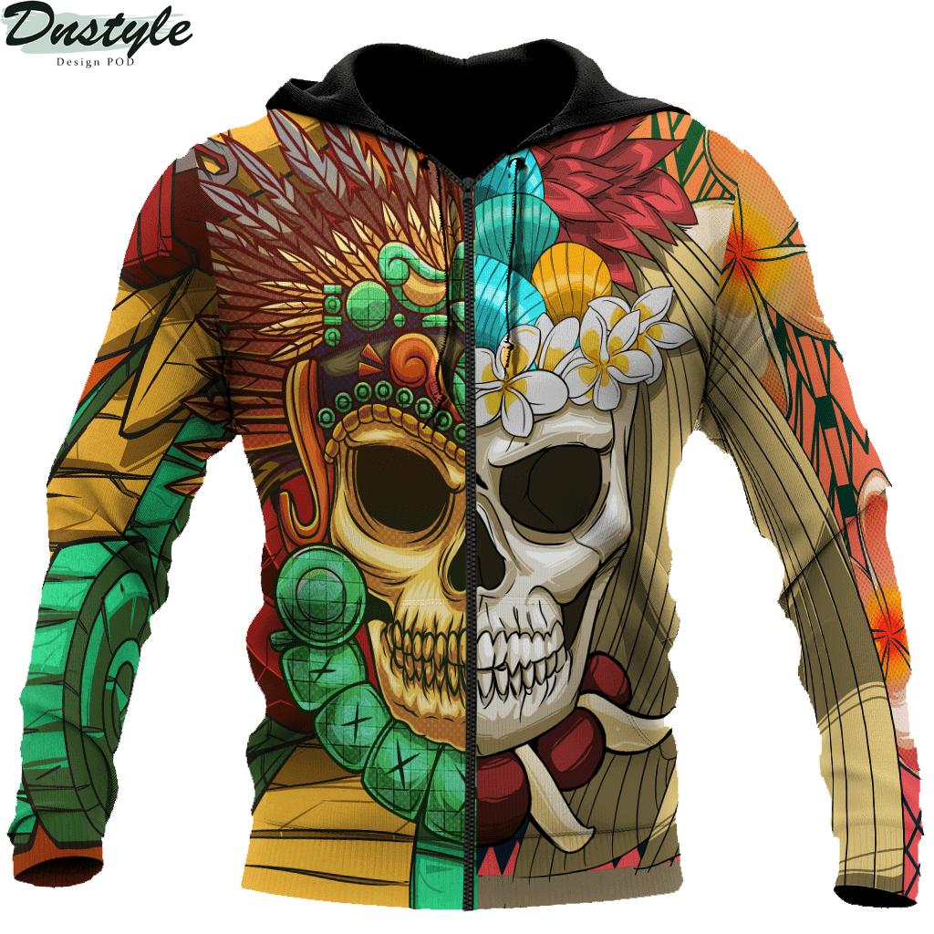 Premium Native American Skull Pattern 3d printed hoodie 2