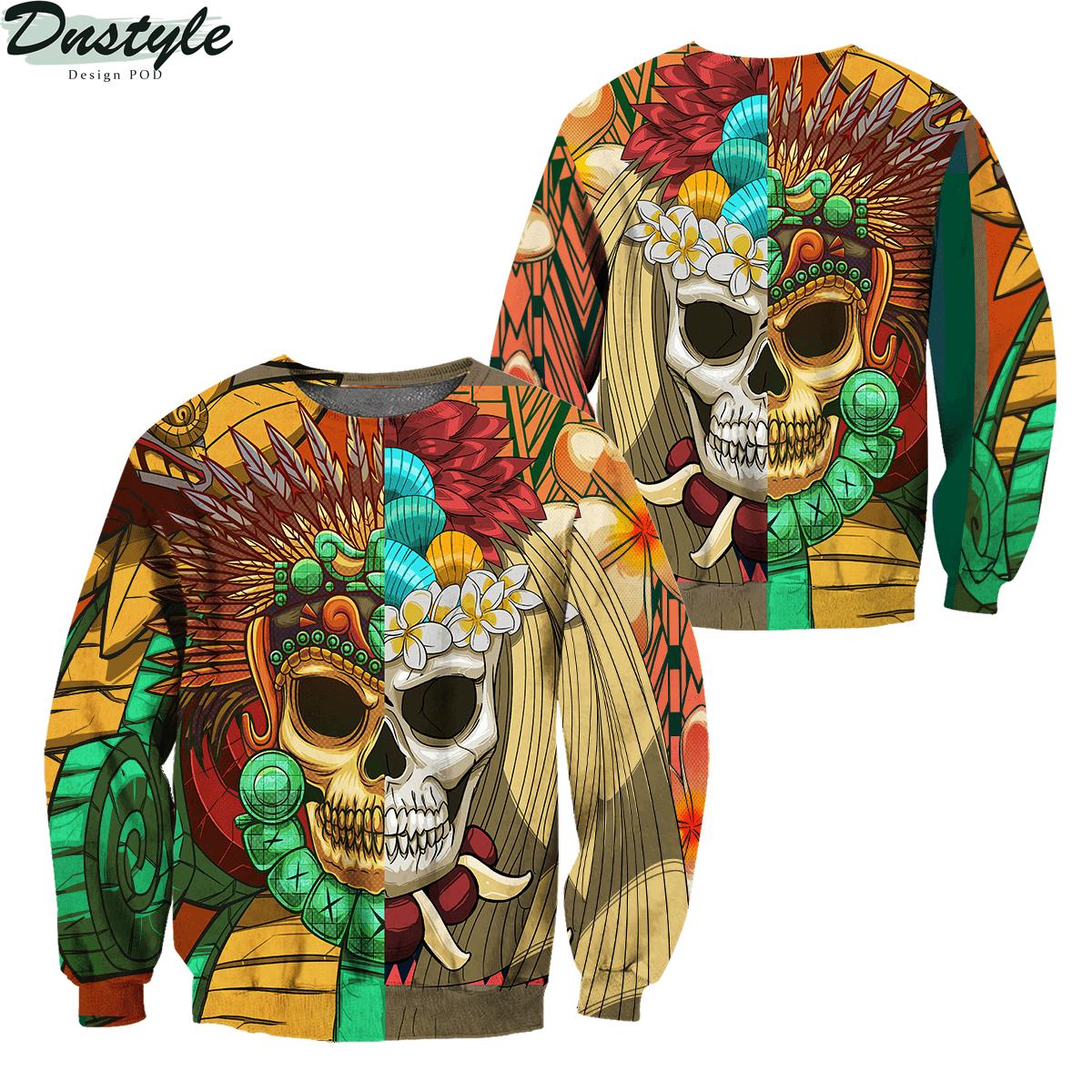 Premium Native American Skull Pattern 3d printed hoodie 3