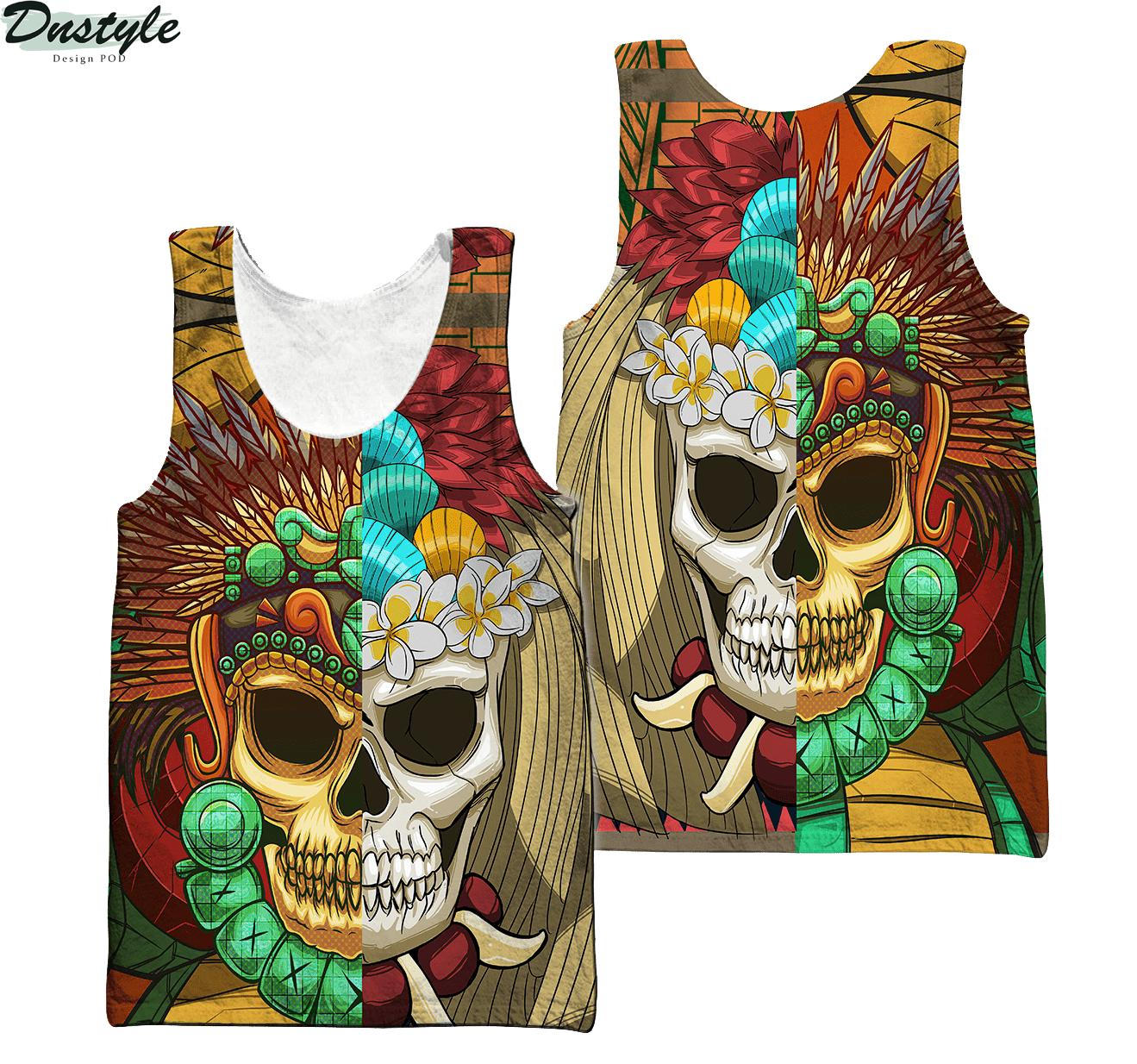 Premium Native American Skull Pattern 3d printed hoodie 4