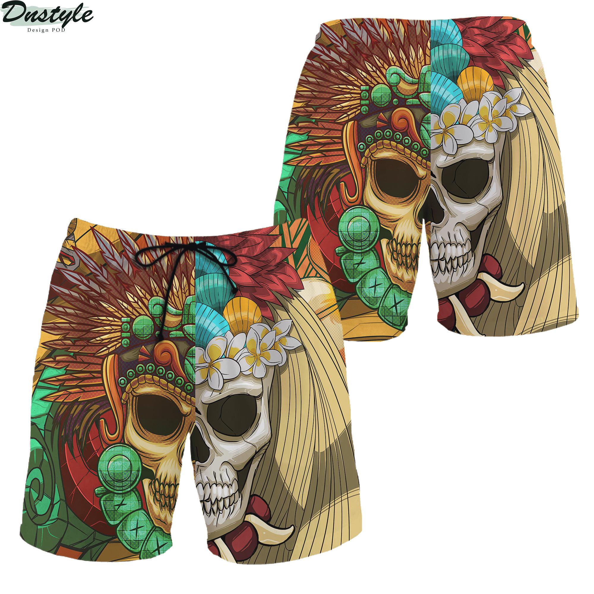 Premium Native American Skull Pattern 3d printed hoodie 5