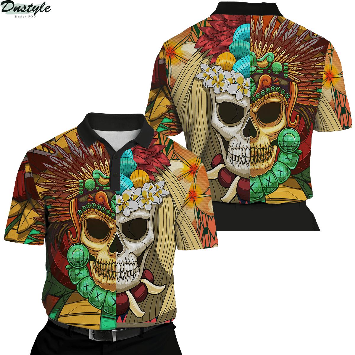 Premium Native American Skull Pattern 3d printed hoodie 6