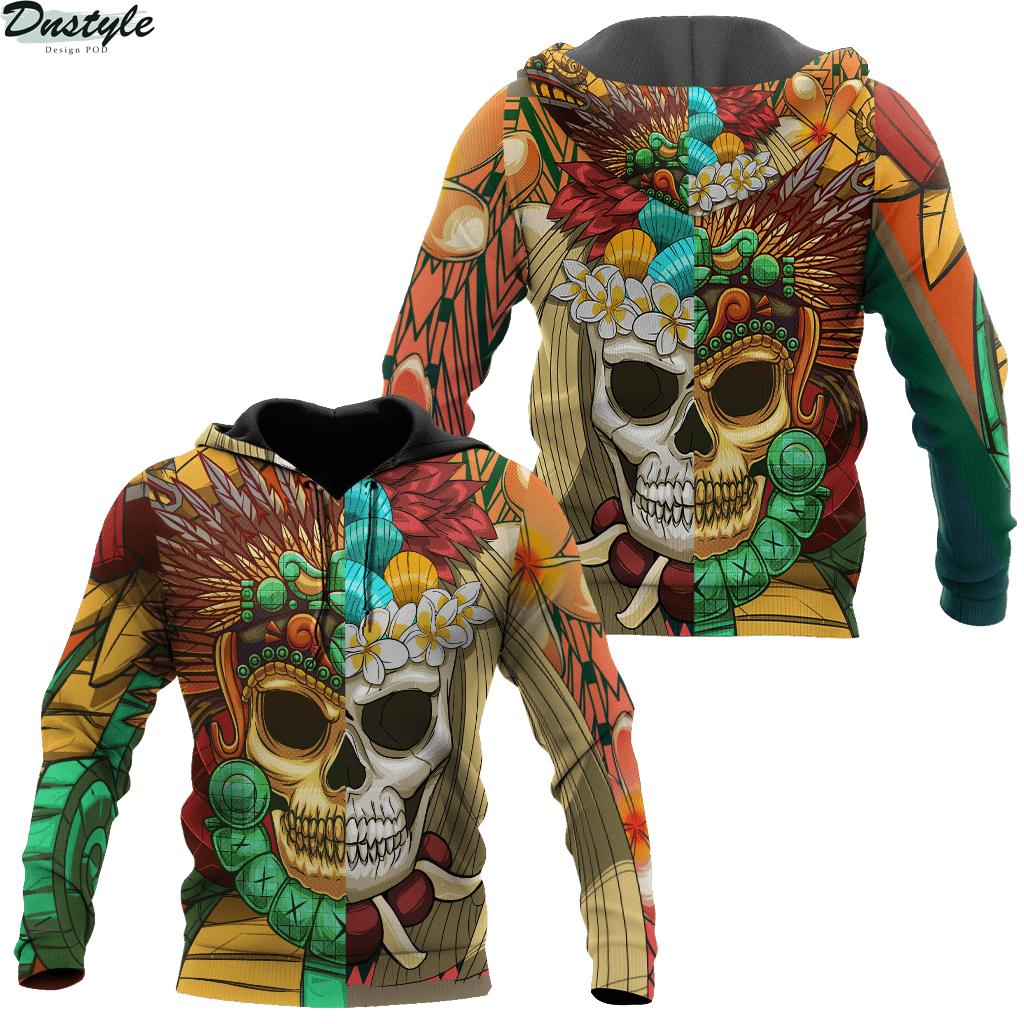 Premium Native American Skull Pattern 3d printed hoodie