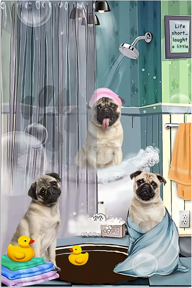 Pug shower poster