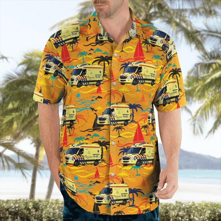 RAV haaglanden ambulance hawaiian shirt 1