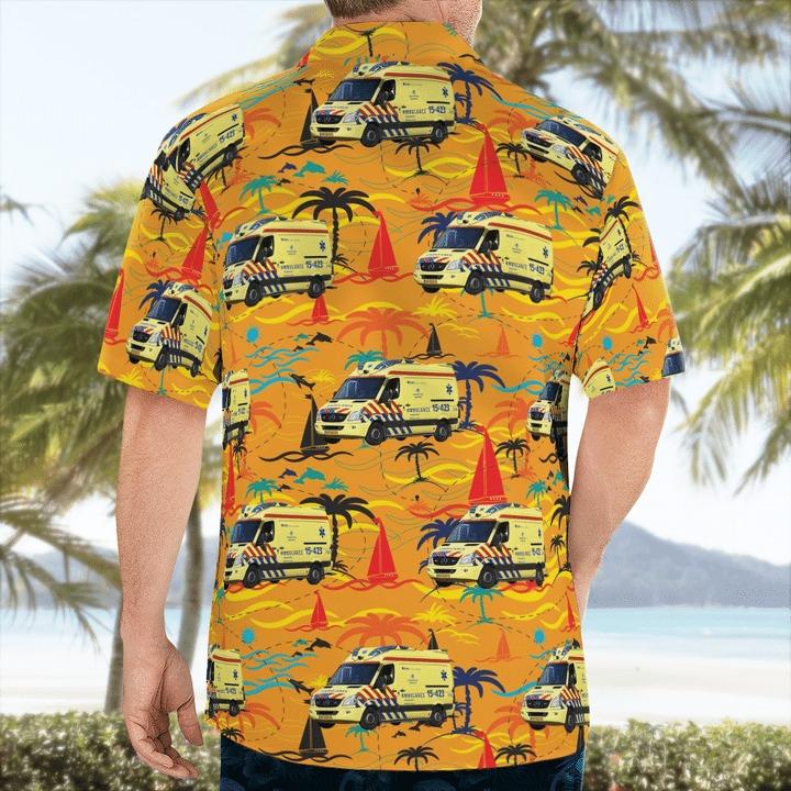 RAV haaglanden ambulance hawaiian shirt 2