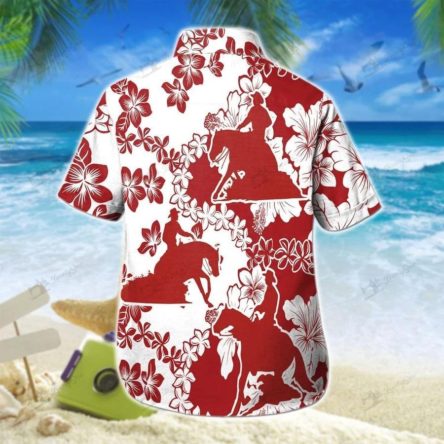 Reining horse curve hawaiian shirt 1