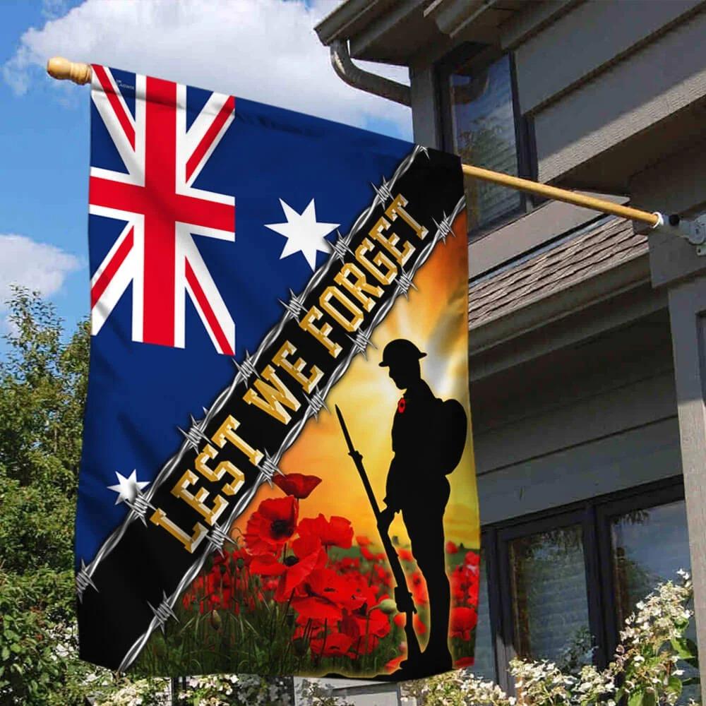 Remembrance Day Lest We Forget Australia Veteran Flag 1