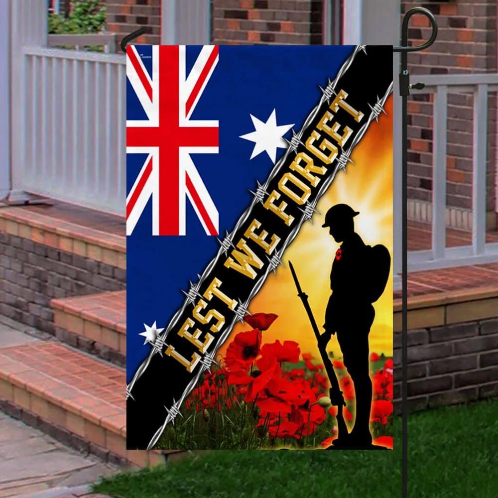 Remembrance Day Lest We Forget Australia Veteran Flag 2