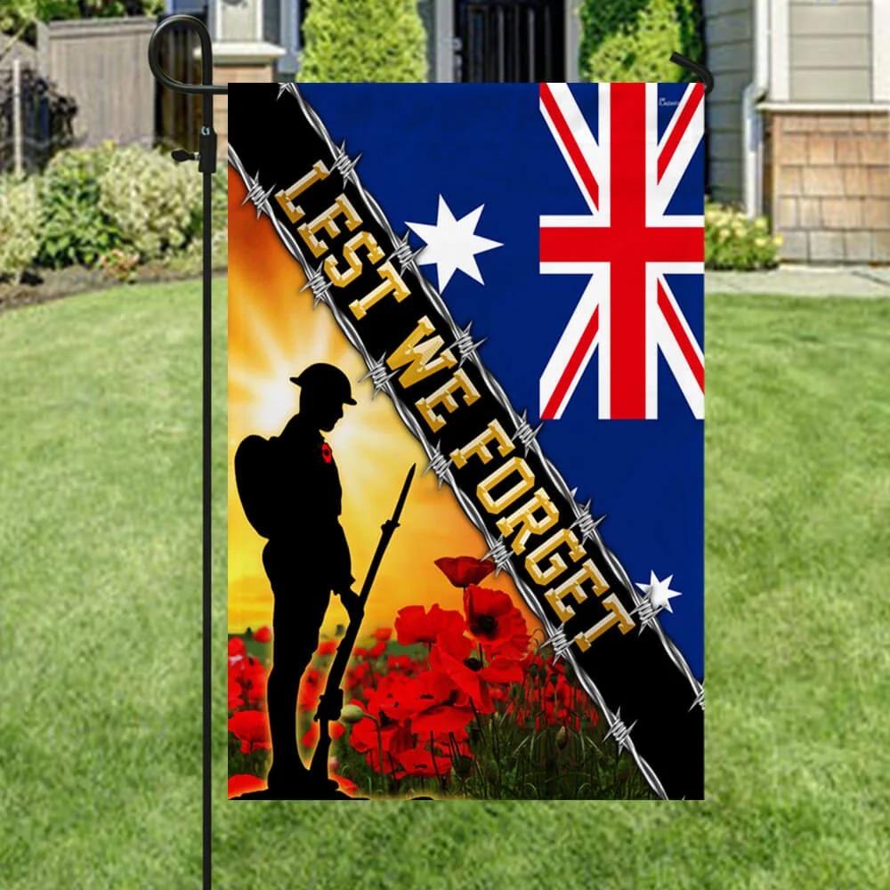 Remembrance Day Lest We Forget Australia Veteran Flag 3