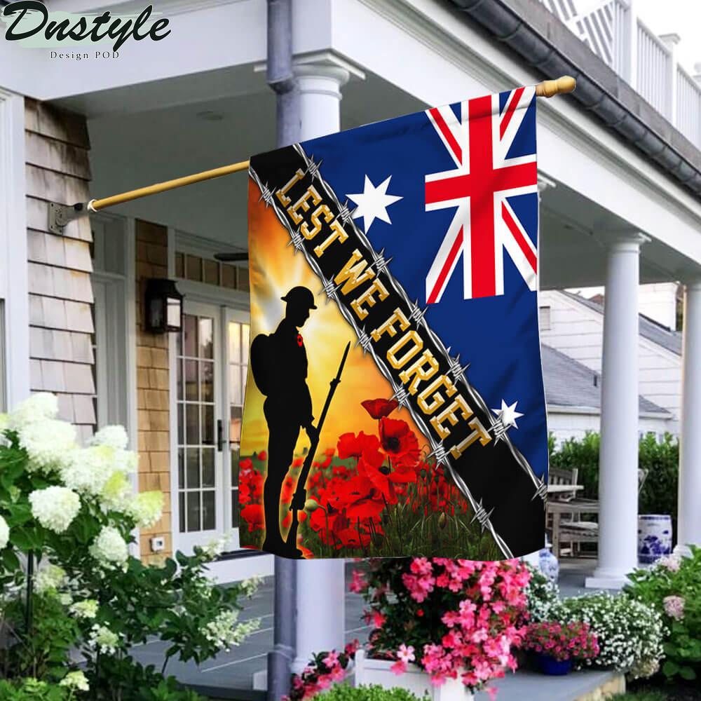 Remembrance Day Lest We Forget Australia Veteran Flag