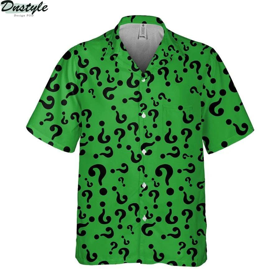 Riddler DC Comics hawaiian shirt