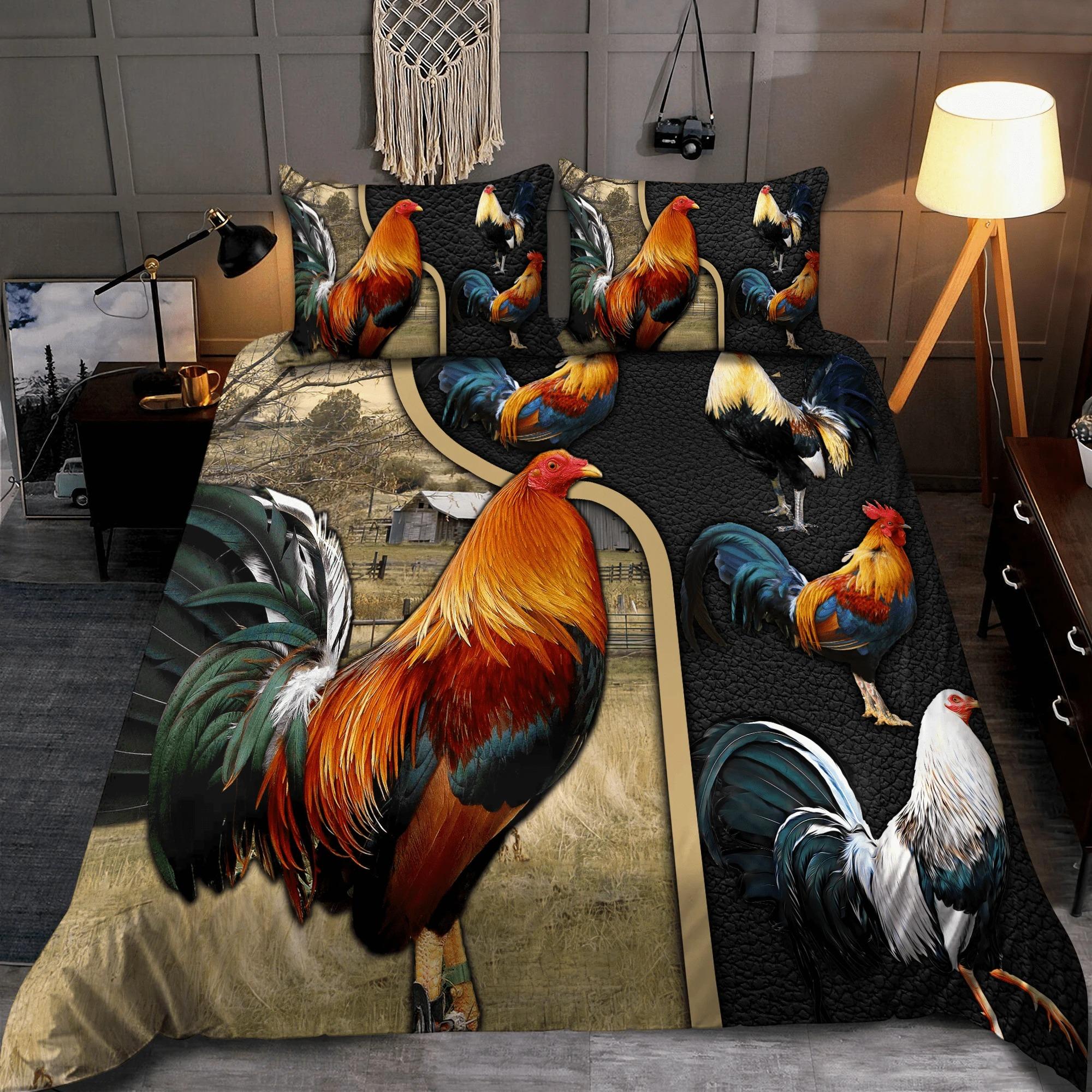 Rooster bedding set 1