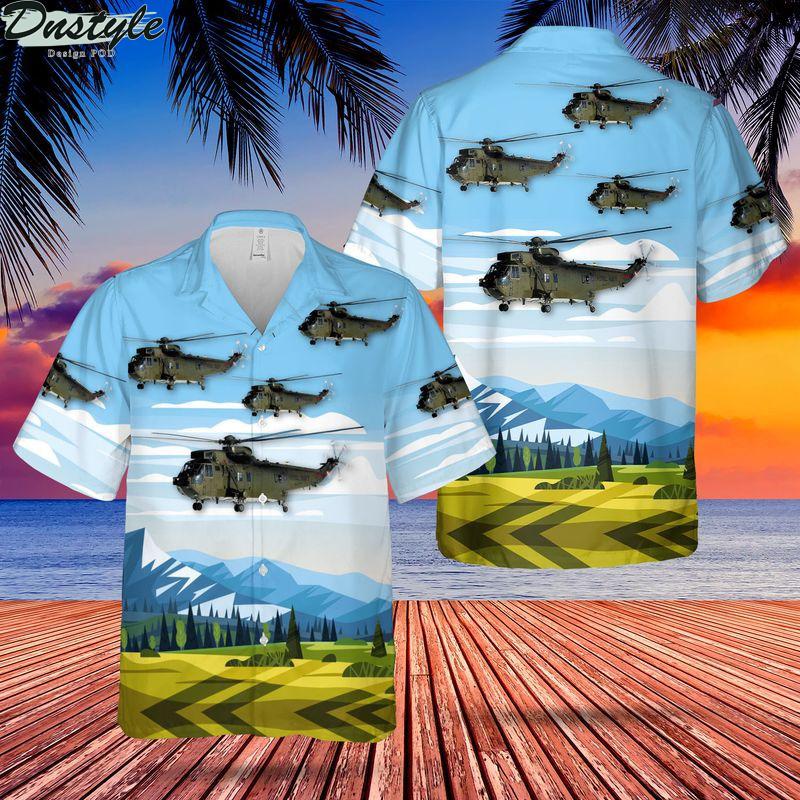 Royal Navy Seaking Mk4 Helicopter Hawaiian Shirt