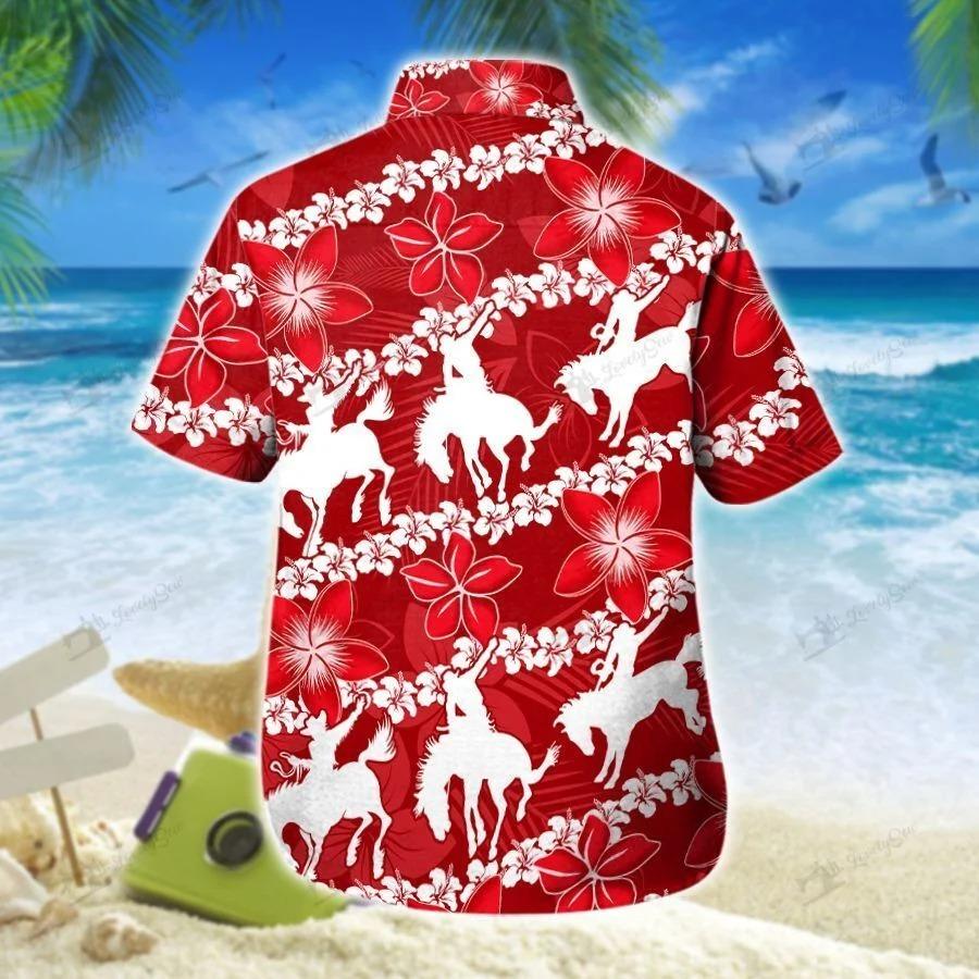 Saddle bronc line hawaiian shirt 1