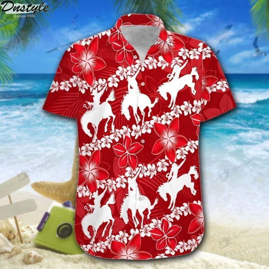 Saddle bronc line hawaiian shirt