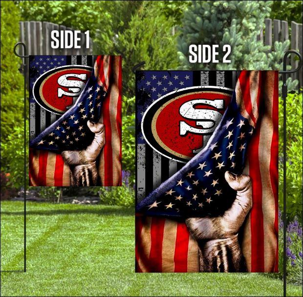San Francisco 49ers American flag