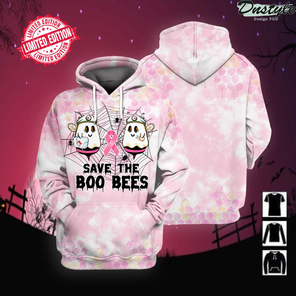 Save the Boo Bees Breast Cancer Halloween 3D All Over Printed hoodie