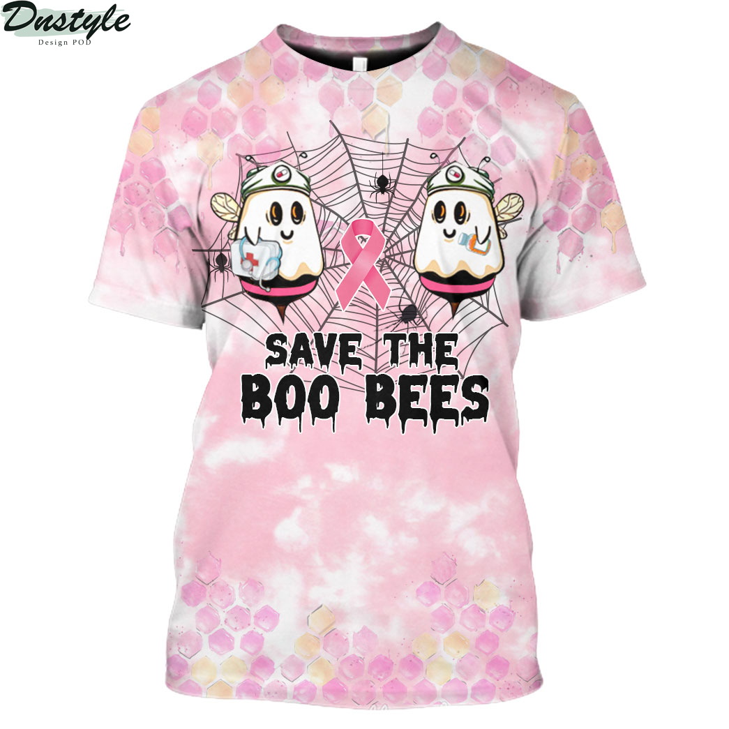 Save the Boo Bees Breast Cancer Halloween 3D All Over Printed shirt