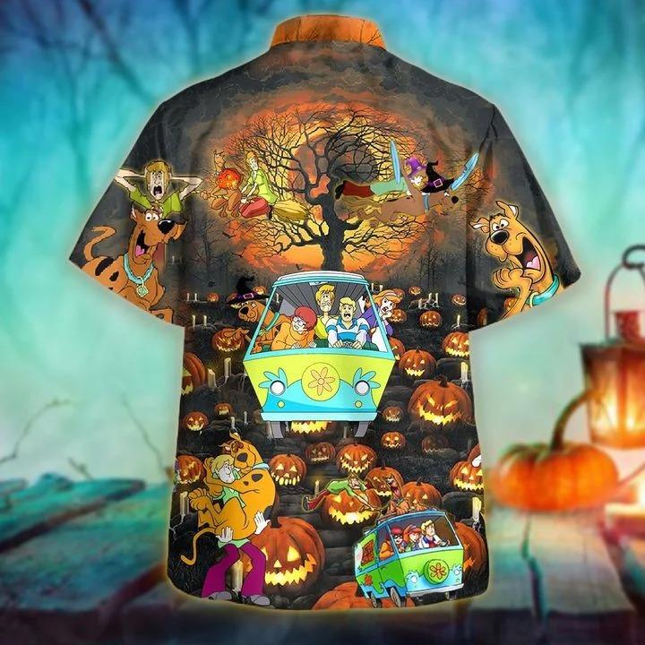 Scooby doo happy halloween unisex hawaiian shirt 1
