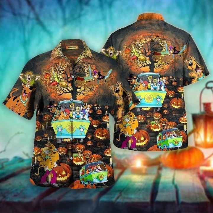 Scooby doo happy halloween unisex hawaiian shirt 2