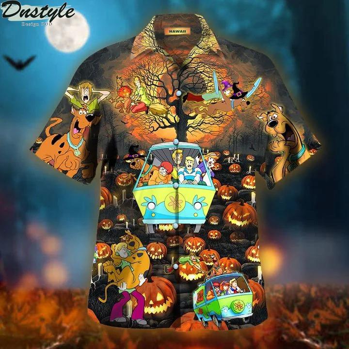 Scooby doo happy halloween unisex hawaiian shirt