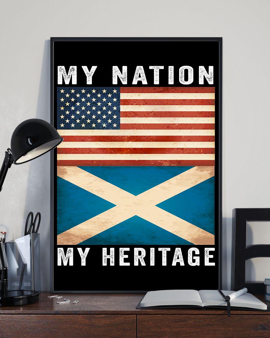 Scottish american my nation my heritage poster 1