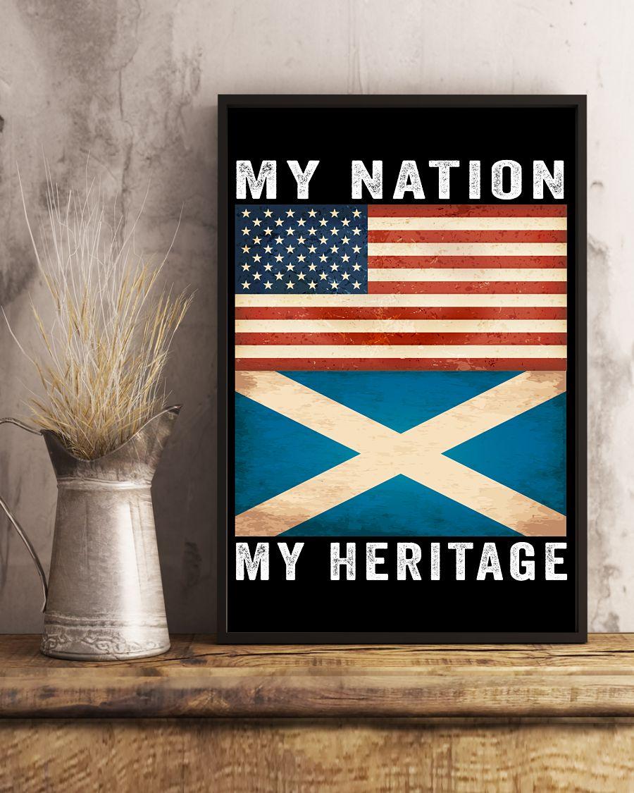 Scottish american my nation my heritage poster 2