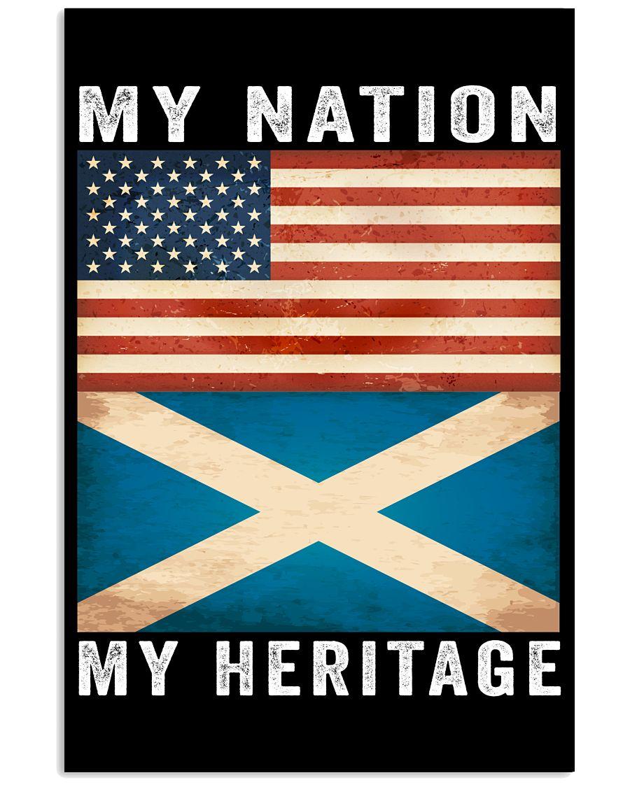 Scottish american my nation my heritage poster 3