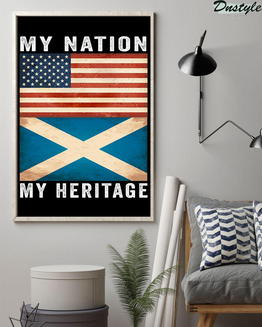 Scottish american my nation my heritage poster