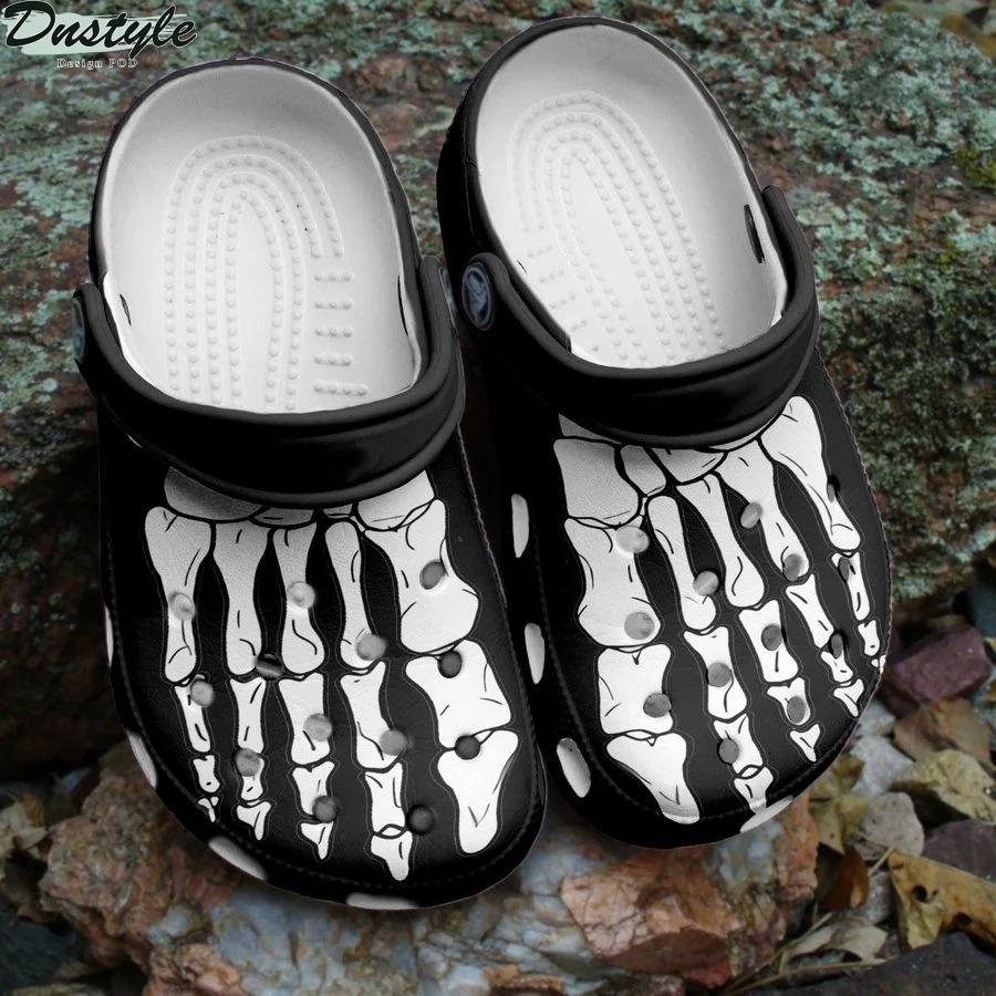 Skeleton bones crocs crocband clog shoes