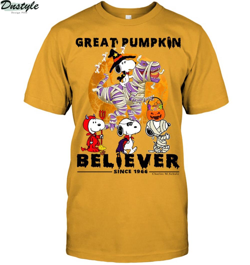 Snoopy great pumpkin believer since 1966 charles m schulz shirt