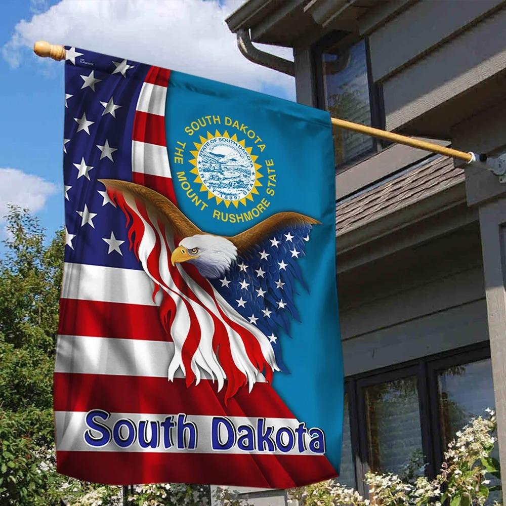 South Dakota the mount rushmore state eagle flag 1