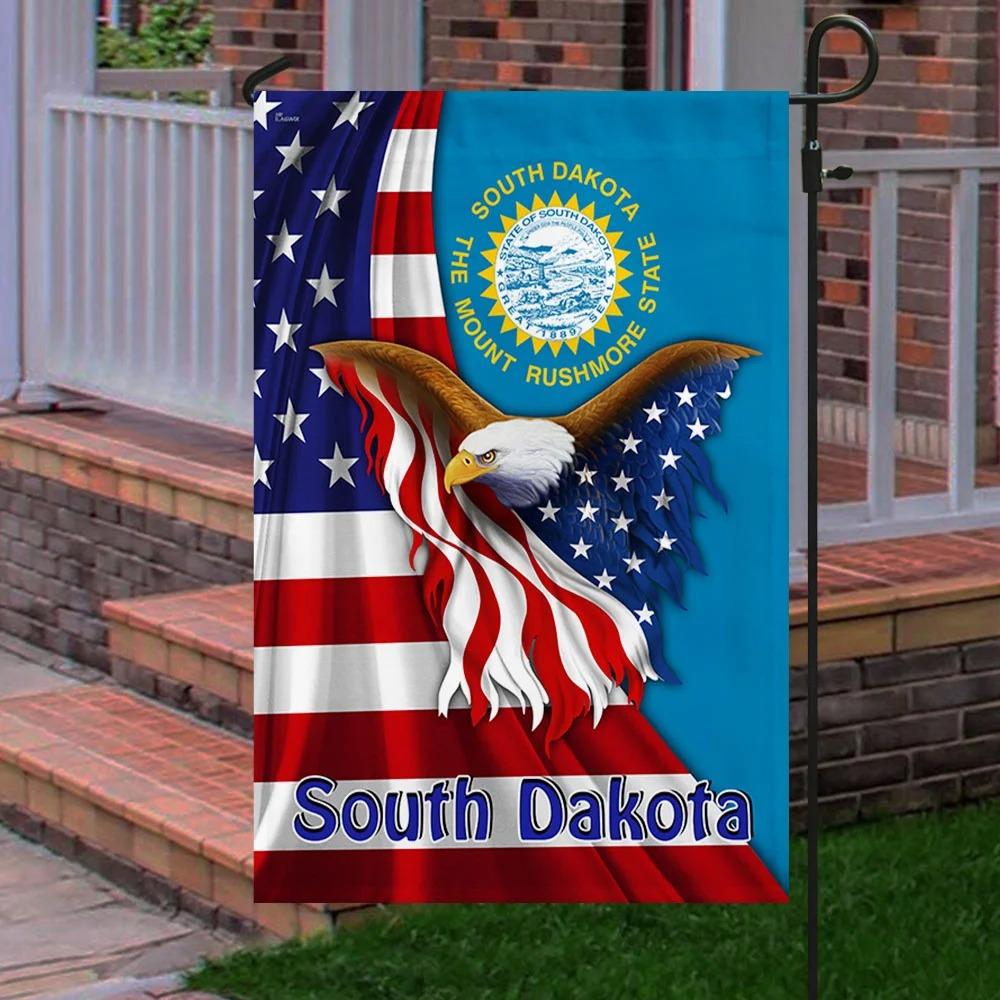 South Dakota the mount rushmore state eagle flag 2