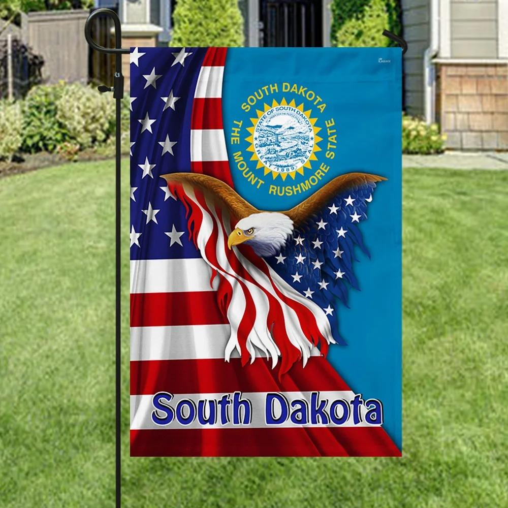 South Dakota the mount rushmore state eagle flag 3