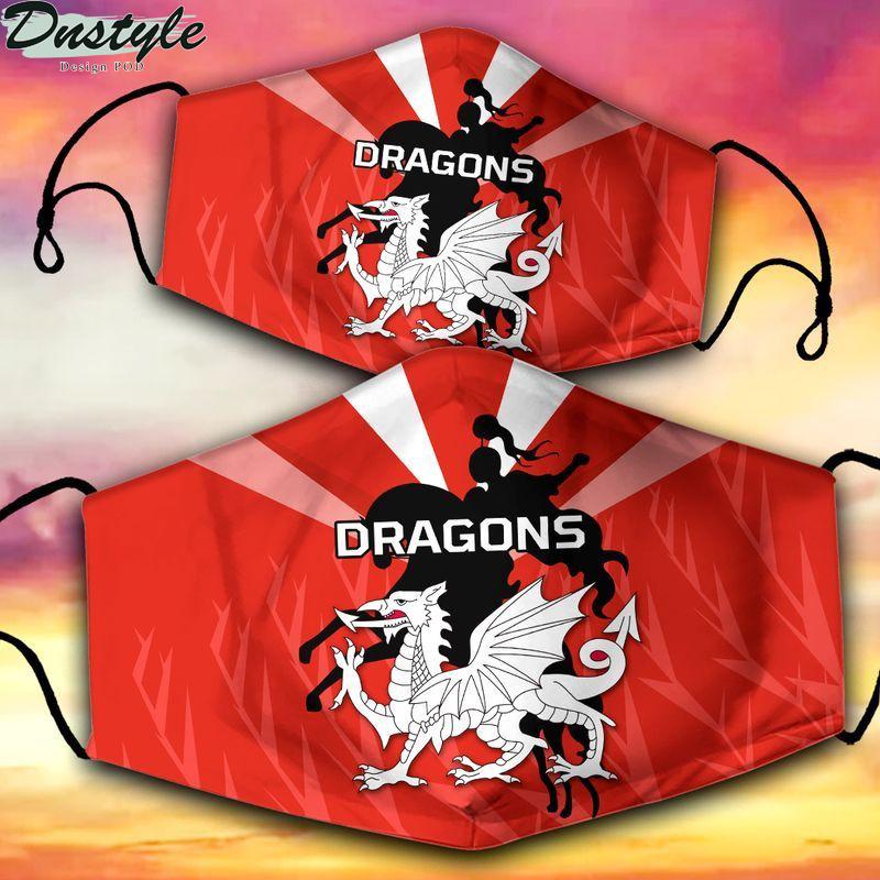 St George Illawarra Dragons NRL 3d face mask