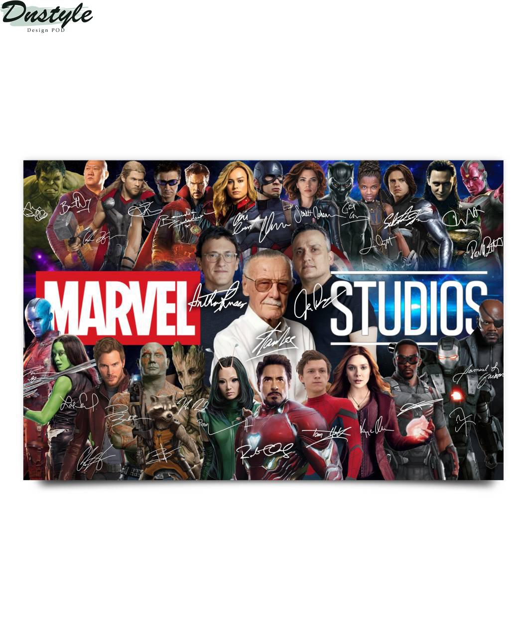 Stan lee marvel studios character signature poster